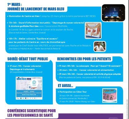 Jeudi 01/03/2018 : Journée de lancement de «MARS BLEU» au Centre François Baclesse