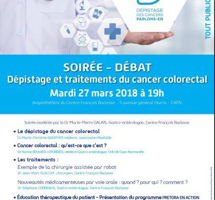 Mardi 27/03/2018-19h00 : Soirée-débat au Centre François Baclesse