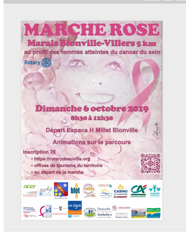 DIMANCHE 6 OCTOBRE 2019  : MARCHE ROSE DU MARAIS DE BLONVILLE/VILLERS